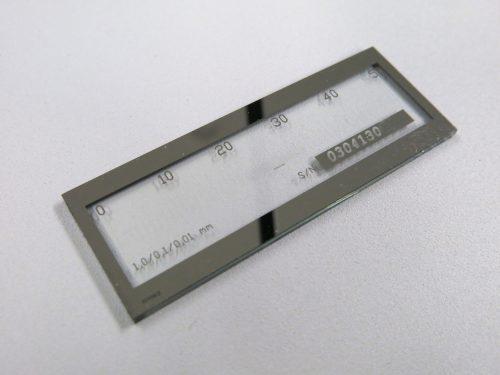 Objektmikrometer mit µm-Skala